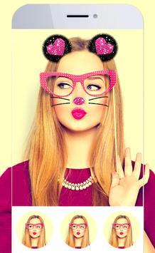 Cat Face Selfie poster