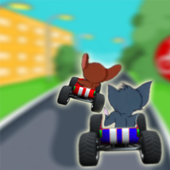 Adventures cat and jerry racing game icon