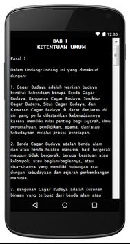 UU CAGAR BUDAYA NO. 11/ 2010 apk screenshot