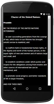 CHARTER OF THE UNITED NATIONS apk screenshot