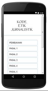 KODE ETIK JURNALISTIK apk screenshot