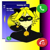 Cat Noir - Fake Call icon
