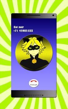 Cat Noir - Fake Call screenshot 3