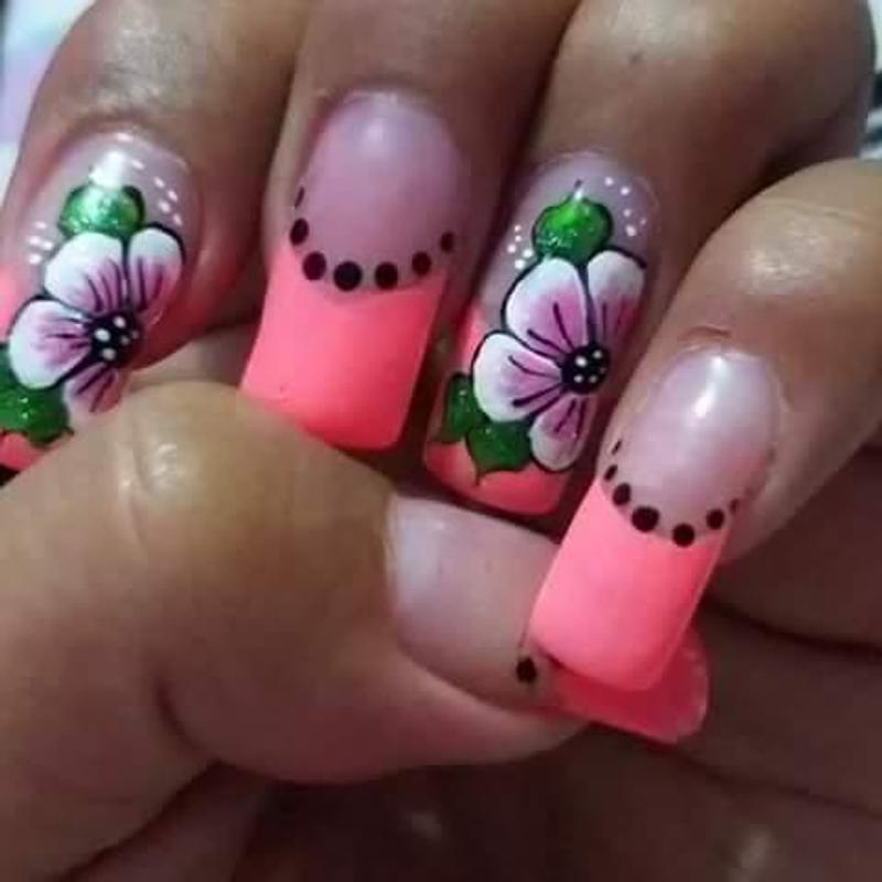 Unas Decoradas Con Flores Disenos Unas Con Flores Pour Android
