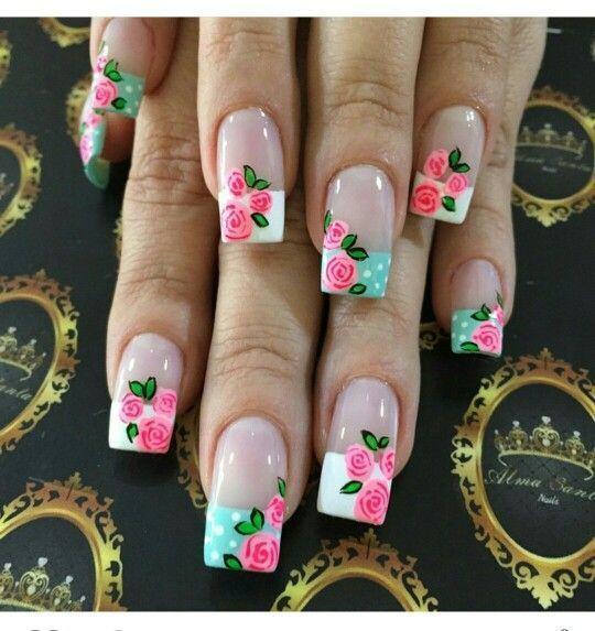 Uñas Decoradas Con Flores Diseños Uñas Con Flores For
