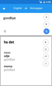 Norwegian English Translate screenshot 1