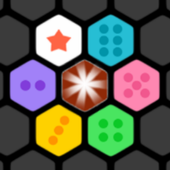 Hexagon Block Puzzledom-match three or more pieces icon