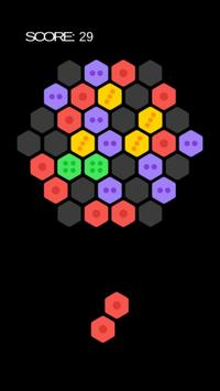 Hexagon Block Puzzledom-match three or more pieces poster