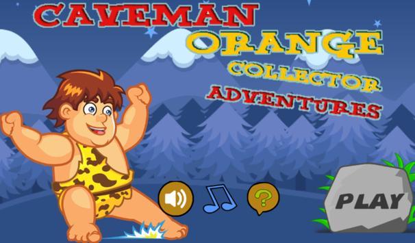 Caveman orange collector poster