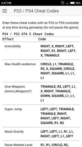 🐈 Cheat code voiture gta 5 ps4   GTA 5 Cheats PS4 Phone  2019-02-27