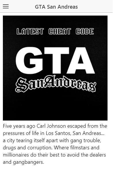 Latest Cheat code for GTA San Andreas gta sa cheat for