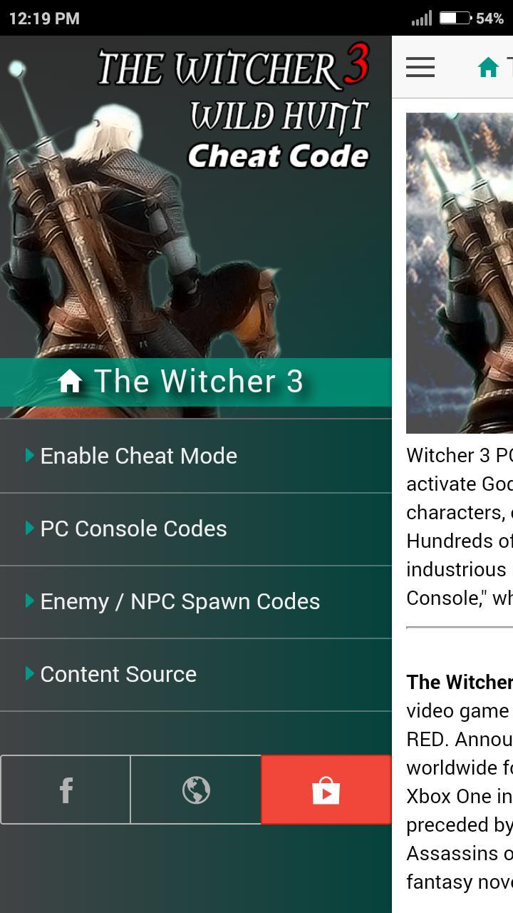 Witcher Cheats