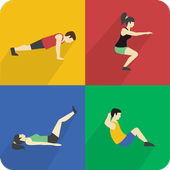 Home workouts - Abs, Butt, Chest, Lose Weight icon
