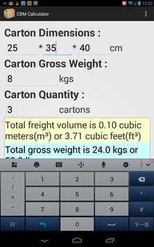 CBM Calculator apk screenshot