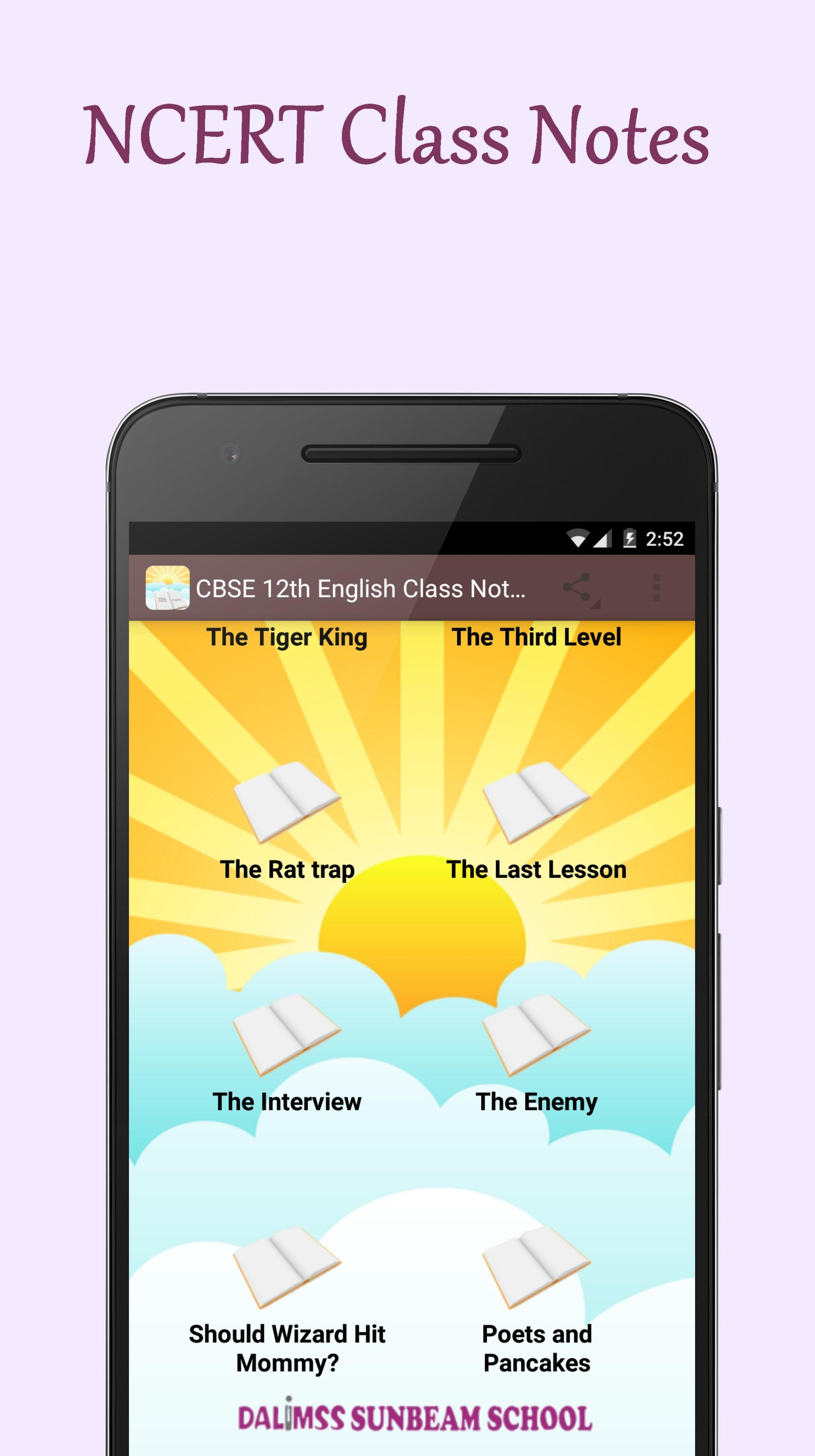 CBSE 12th English Class Notes for Android - APK Download