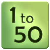 1 to 50 - Fun Android Game: Best time killer icon