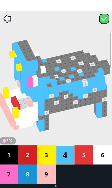 3d Minecraft Pixel Art Color By Number For Android Apk