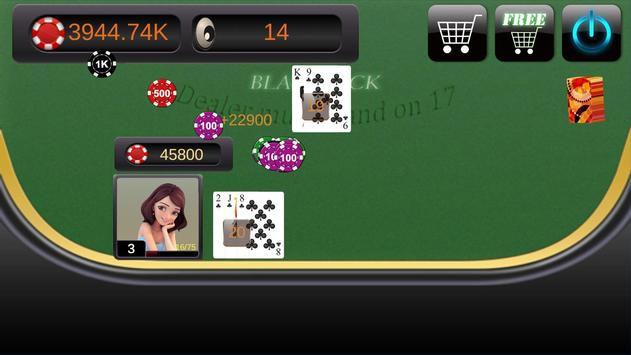 BlackJack 21-(Casino Poker) screenshot 1