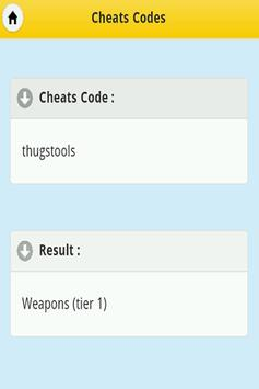 Cheats - GTA 3 apk screenshot