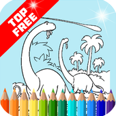 Coloring Game for my-dinosaurs icon