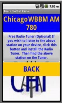 Bears Pro Football Radio screenshot 1
