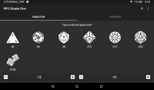 RPG Simple Dice apk スクリーンショット