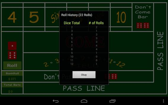Free Craps apk screenshot