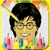 How To draw Harry Potter icon