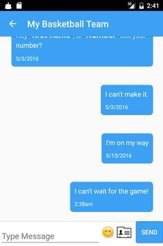 Simple Group Texts apk screenshot