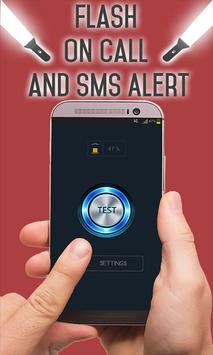 Flash on Call and SMS Alert poster