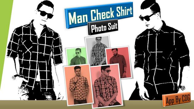 Man Check Shirt Photo Suit poster