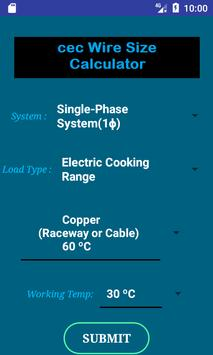 Cec wire size calculator free apk download free tools app for cec wire size calculator free poster greentooth Gallery