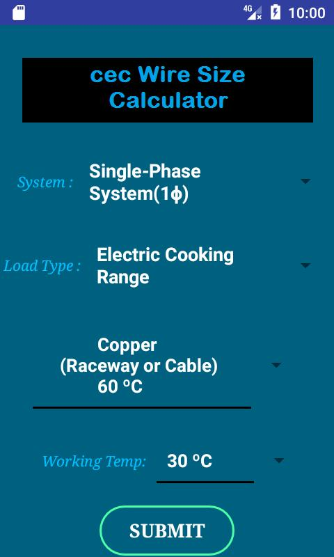 Cec wire size calculator free apk download free tools app for cec wire size calculator free poster greentooth Choice Image