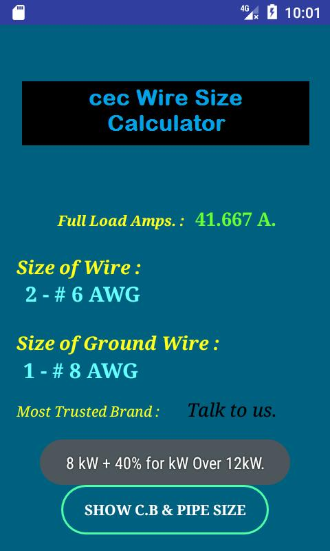 Cec wire size calculator free apk download free tools app for cec wire size calculator free apk screenshot greentooth Choice Image