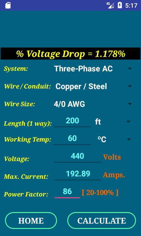 Cec wire size calculator free apk download free tools app for cec wire size calculator free apk screenshot greentooth Image collections