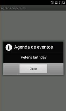 Agenda de eventos apk screenshot