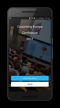Coworking Europe poster