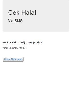 Cek info Halal poster