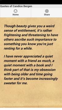 Quotes of Candice Bergen capture d'écran 1