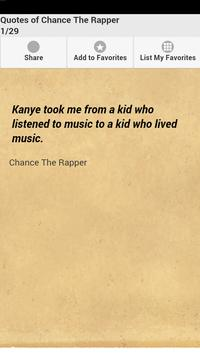 Quotes of Chance The Rapper poster