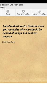 Quotes of Christian Bale poster