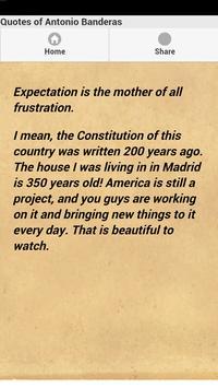 Quotes of Antonio Banderas apk screenshot
