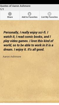 Quotes of Aaron Ashmore poster