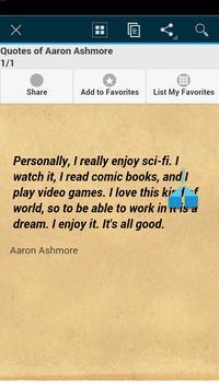Quotes of Aaron Ashmore apk screenshot
