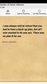 Quotes of Aaron Johnson poster