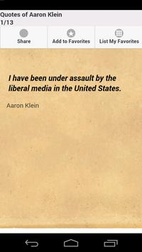 Quotes of Aaron Klein poster