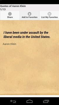 Quotes of Aaron Klein apk screenshot