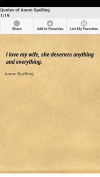 Quotes of Aaron Spelling poster