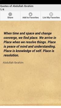 Quotes of Abdullah Ibrahim poster
