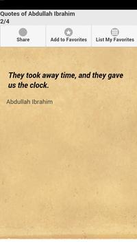 Quotes of Abdullah Ibrahim apk screenshot